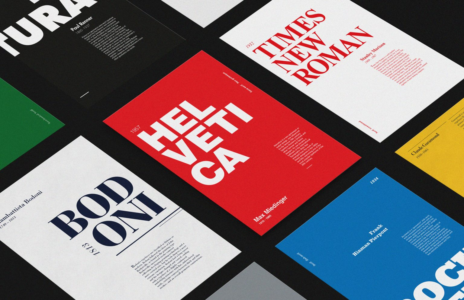Typeface-poster perspective